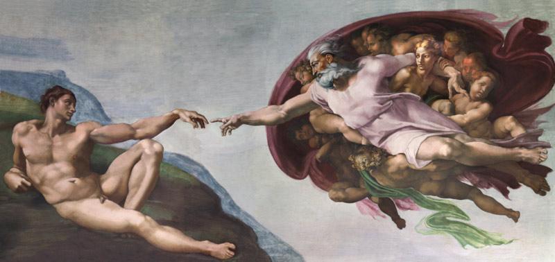 Микеладжело Буонароти. Сотворение Адама